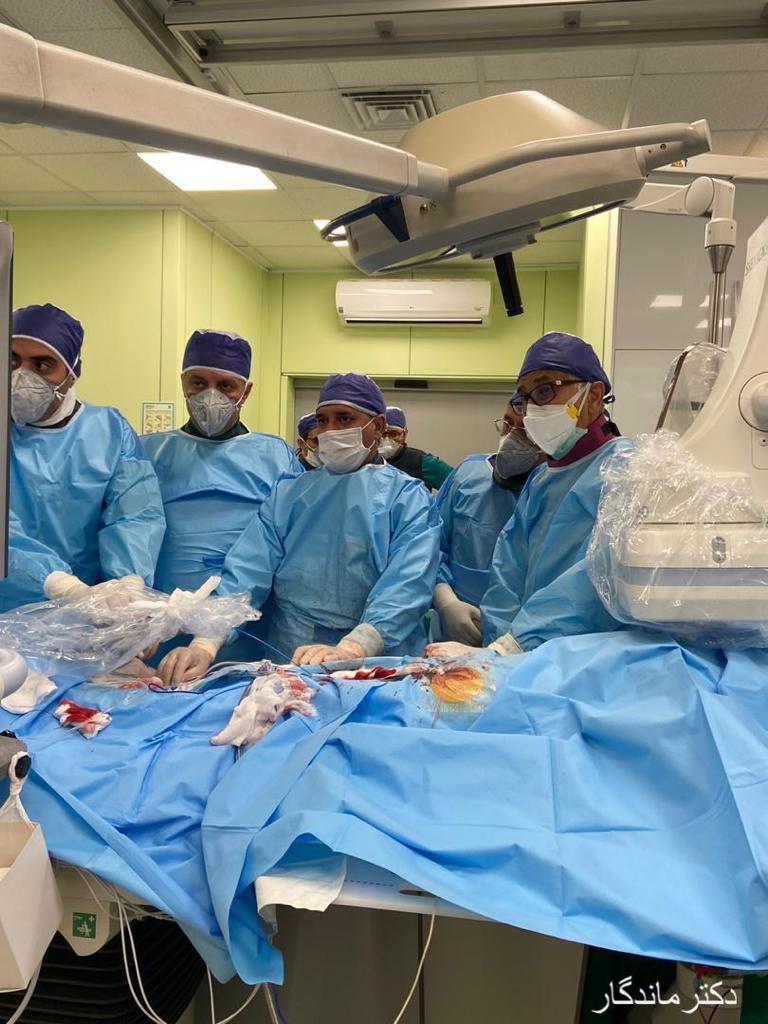 عمل جراحی تاوی در بیمارست دی