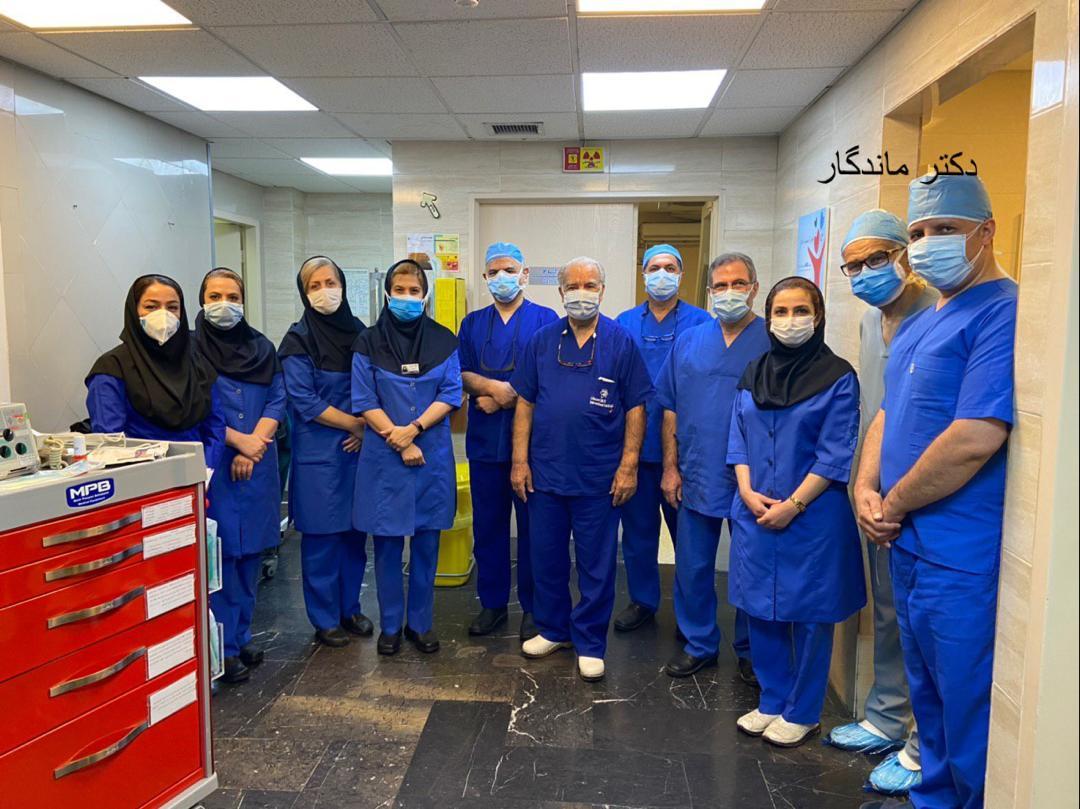 عمل جراحی تاوی در بیمارستان دی